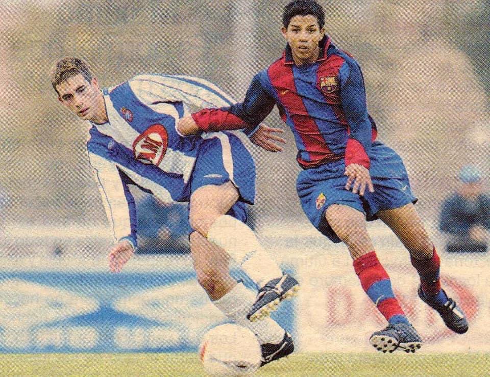 Pedro Núñez en su etapa de canterano del FC Barcelona (2002-04)