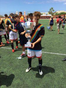 Junior Martínez cuando jugaba para el Rayo Vallecano Juvenil