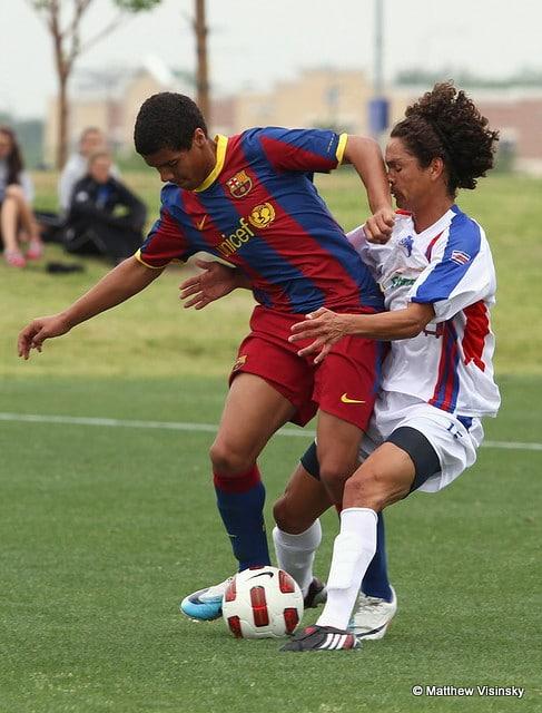 Carlos Martínez en el Barcelona juvenil