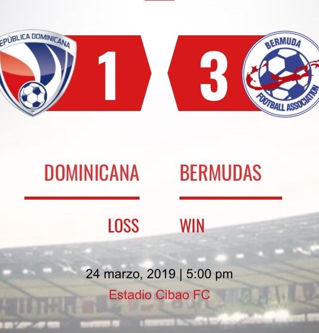 Dominicana 1-3 Bermudas