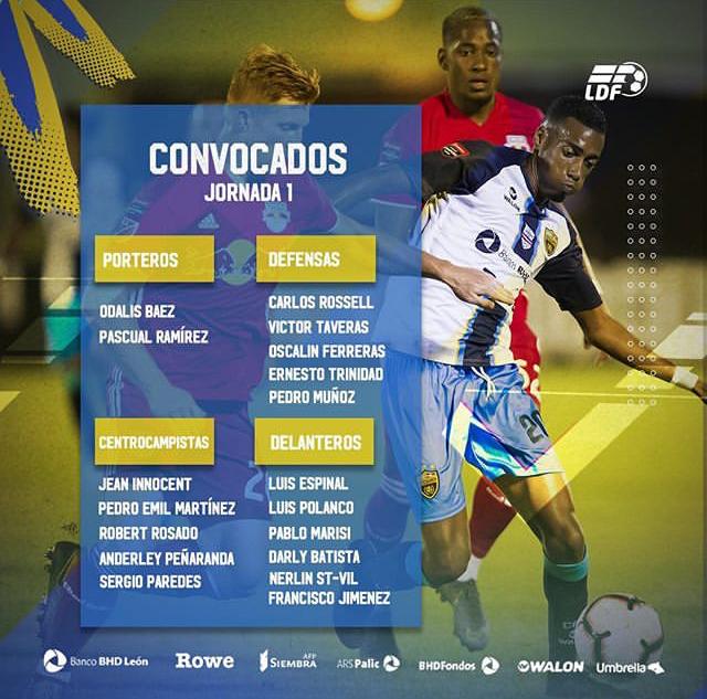 Jugadores covocados por Atlético Pantoja para enfrentar a Atlántico FC