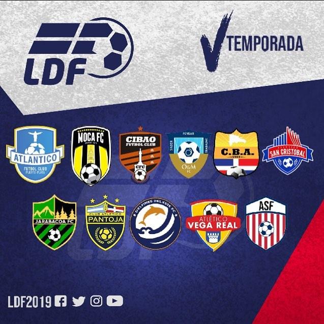 Equipos 5ta Liga Dominicana de Futbol