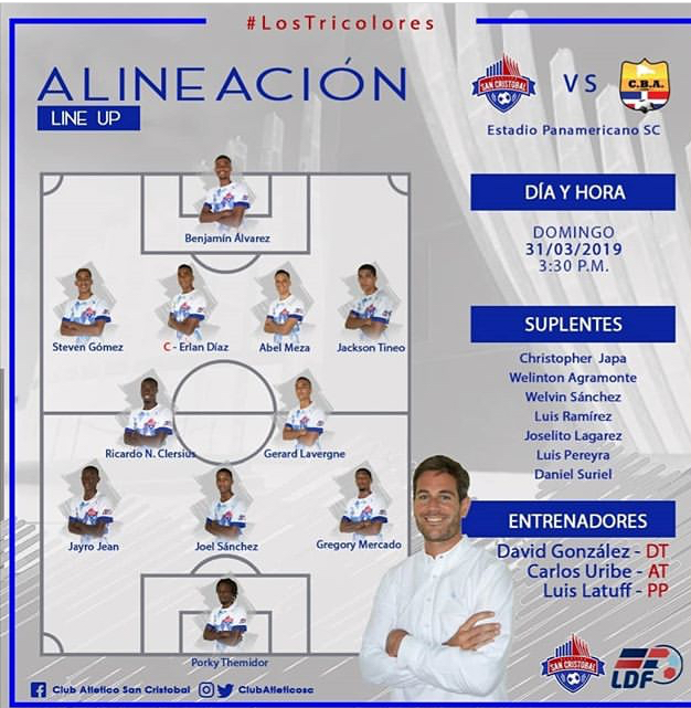 Jugadores convocados por Atlético San Cristóbal para enfrentar a Barcelona Atlético
