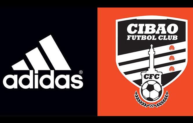 Logos CibaoFC y Adidas