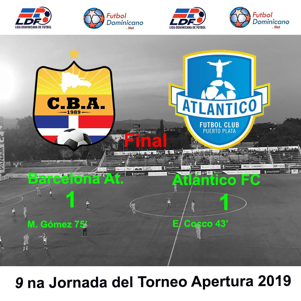 Barcelona Atlético 1-1 Atlántico FC