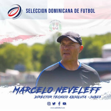 Póster de presentación de Marcelo Neveleff como Director Técnico de la Selección Dominicana de Fútbol