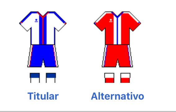 Colores del uniforme de la Selección Dominicana de Fútbol, imagen cortesía Wikipedia