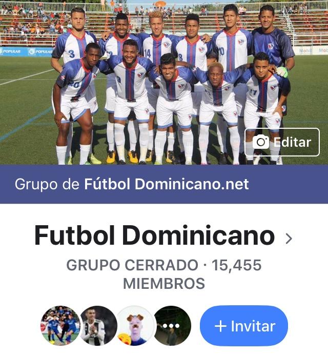 Portada del grupo Fútbol Dominicano en Facebook
