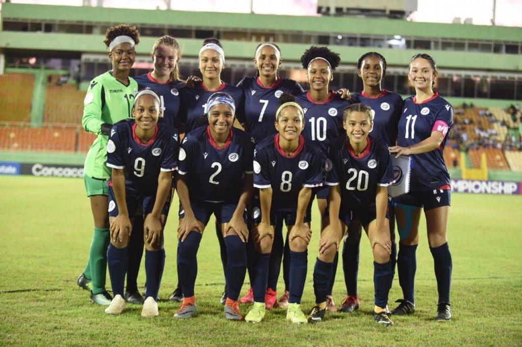 Onceno de la Selección femenil sub-20 de Dominicana frente a El Salvador