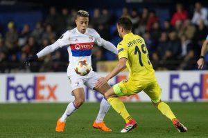 Mariano Díaz en acción con el Olympique Lyonnais la Ligue 1