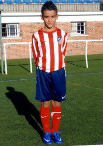 Hugo Martínez cuando militaba en la cantera del Atlético de Madrid