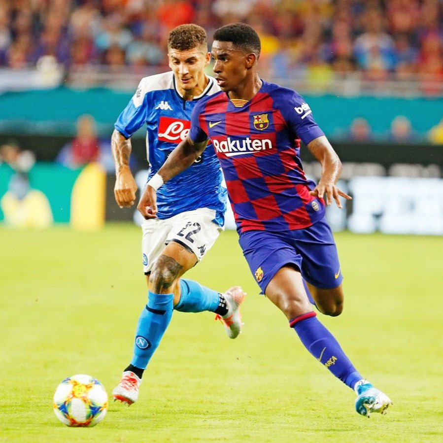 Debut de Junior Firpo con el FC Barcelona